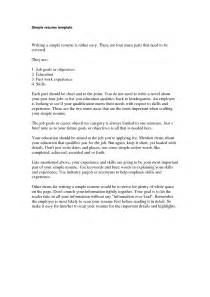 Simple Essay Exles by Exles Of Simple Resumes Getessay Biz