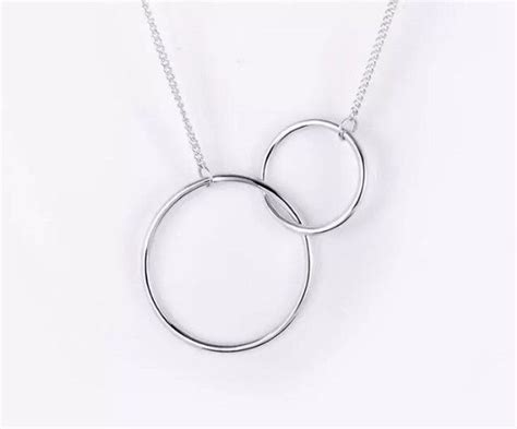 925 Sterling Silver Hoop Necklace brand new 925 sterling silver hoop chain necklace