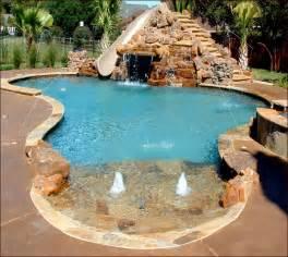 inground pool slides home design ideas