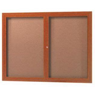 Aarco Dcco3648r 2 Door Indoor Enclosed Bulletin Board With