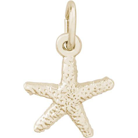 starfish charm 14k gold 10 0532