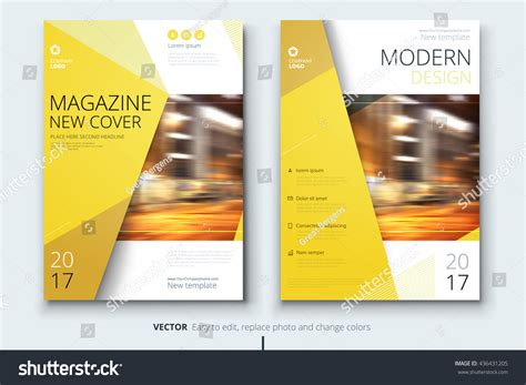 modern layout magazine design corporate business template brochure stock