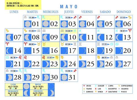 calendario del luna calendario lunar mayo de 2007