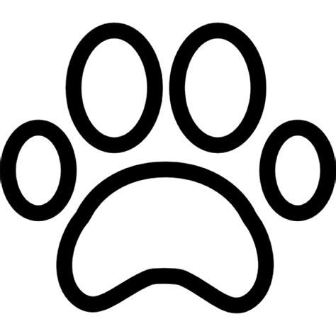Paw Print Outline Icons Free Download Paw Template