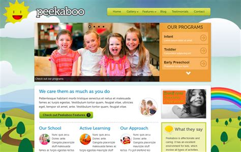 Child Care Website 10fold Solutions Daycare Website Templates Free