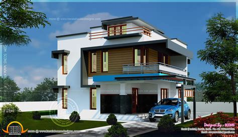 4 bhk contemporary style home 195 square meter kerala home design and floor plans modern 4 bhk home exterior in 186 square yards kerala home design and floor plans