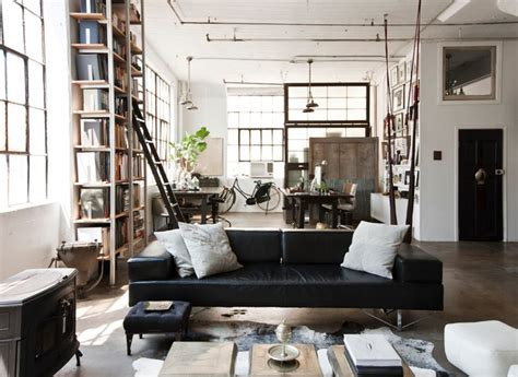 brooklyn living room my houzz international meets industrial in a brooklyn