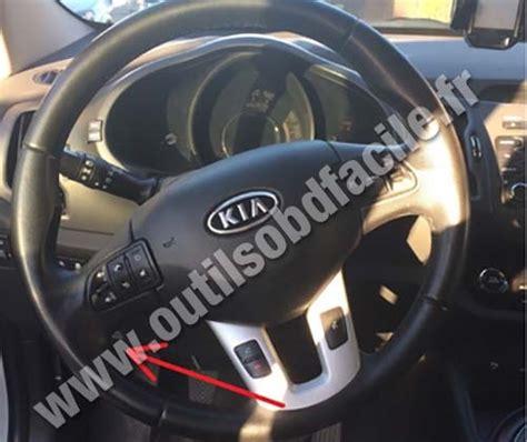 Kia Diagnostic Obd2 Connector Location In Kia Sportage 2010 2014