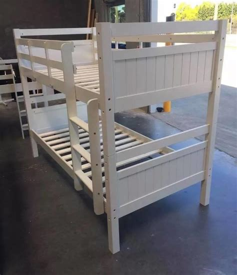 Bunk Bed King Single Bunk Bed King Single Solid White Solid Bunk New Goingbunks Biz