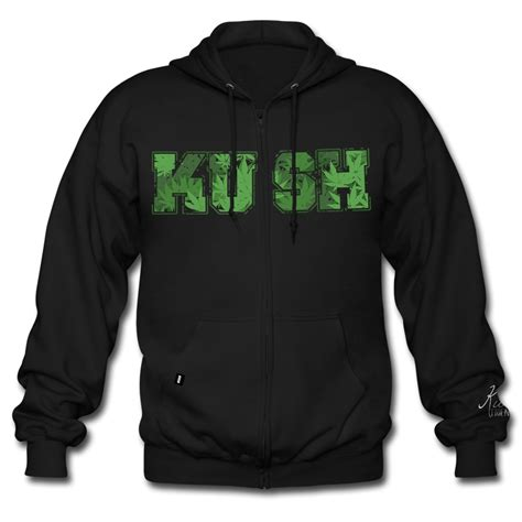 Hoodie Sweater Distro Leaf leaf zip up kush friendly