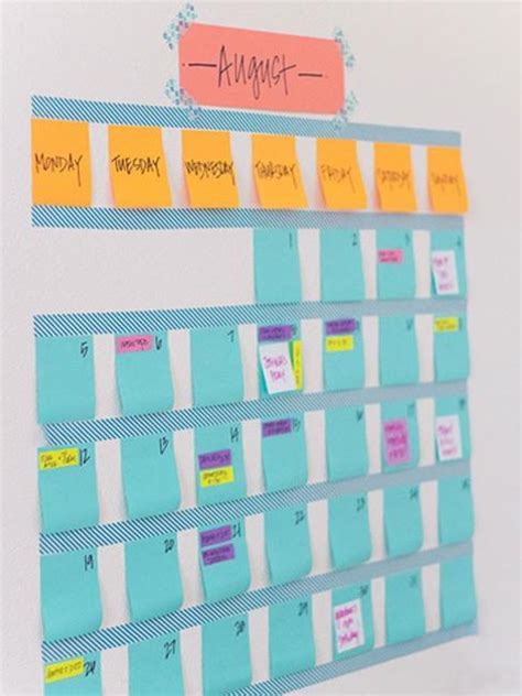 cheap ideas  create diy calendars  unique wall