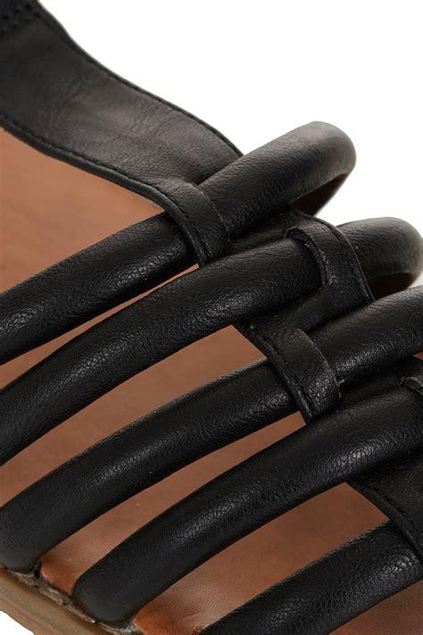 topshop closed toe sandals lyst topshop hi caged closed toe sandals in black