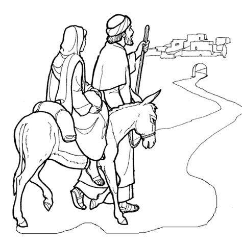 coloring pages mary and joseph bethlehem mary and joseph coloring pages getcoloringpages com