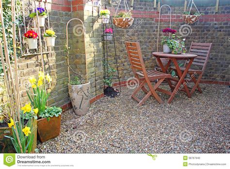 plants for backyard small courtyard garden stock photo image of pretty chairs 38767940