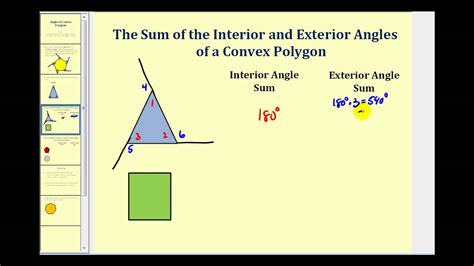 How To Work Out The Interior Angle by Interior And Exterior Angles Of A Polygon