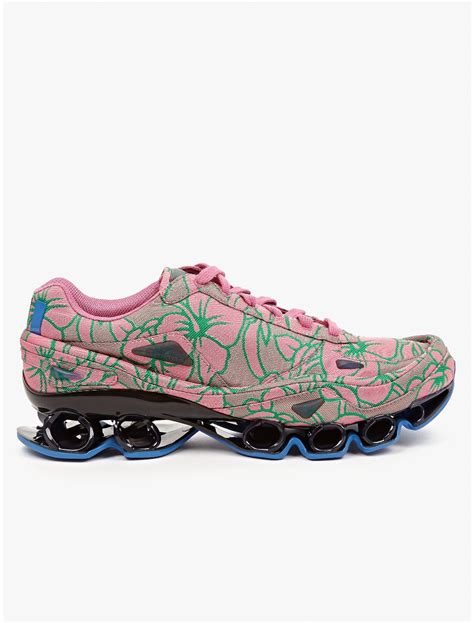 adidas by raf simons mens pink bounce sneakers in pink for lyst