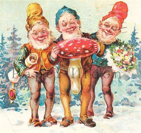 Nice Antique Christmas #3: 5cd5b46f40100aa9e9e81f04e743b914--white-mushrooms-vintage-postcards.jpg