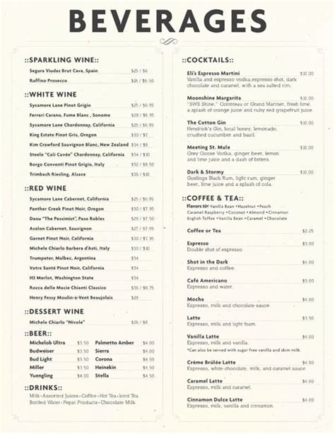restaurant city layout with drinks 33 best images about menu design on pinterest pizza