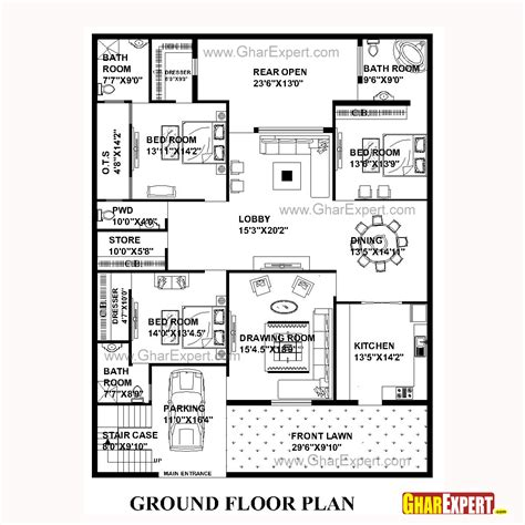 50 square yard home design house plan for 50 feet by 65 feet plot plot size 361