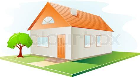 14 cartoon house vector images cartoon house garden haus symbol mit rotem dach und garten vector illustration