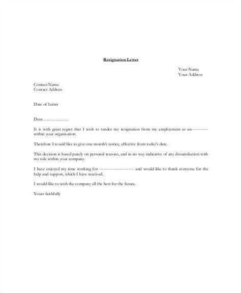 Resignation Letter 3 Months Notice resignation letter with 30 day notice template 7 free word pdf format free