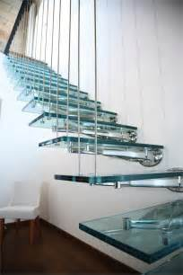 Glass Stair by Glass And Stainless Steel Open Staircase Twin By Faraone