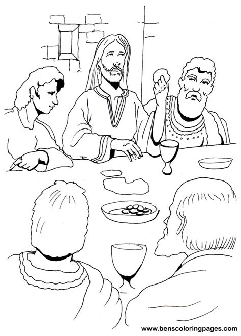 coloring page last supper last supper coloring page with regard to really encourage
