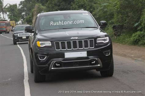 jeep models in india jeep grand 2014 and 2013 models spotted together