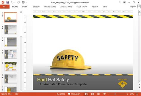 free safety powerpoint templates animated construction