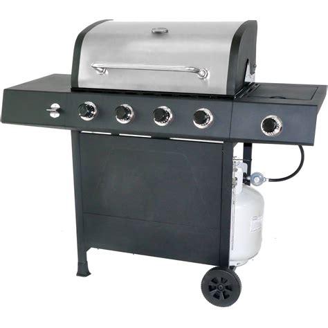 Gas Barbeque W Side Burner Pemanggang Barbeque Fh 12068 3 gas grill burner stainless steel side burner warming rack 4 burners side shelves ebay