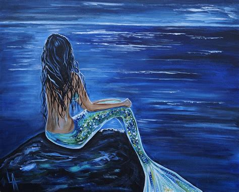 mermaid painting beautiful mermaids 26 background hivewallpaper