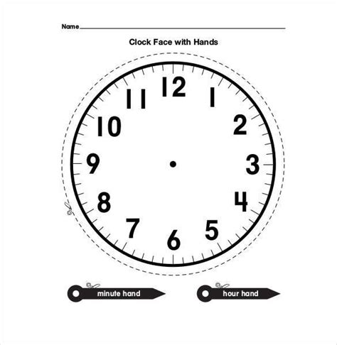printable clock with movable hands printable clock face with movable hands clock face