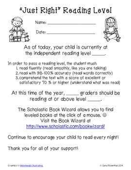 Parent Letter Explaining Guided Reading guided reading level parent letter by miss rosenthal tpt