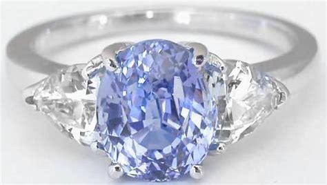 Light Sapphire Ceylon alternative engagement ring with oval ceylon
