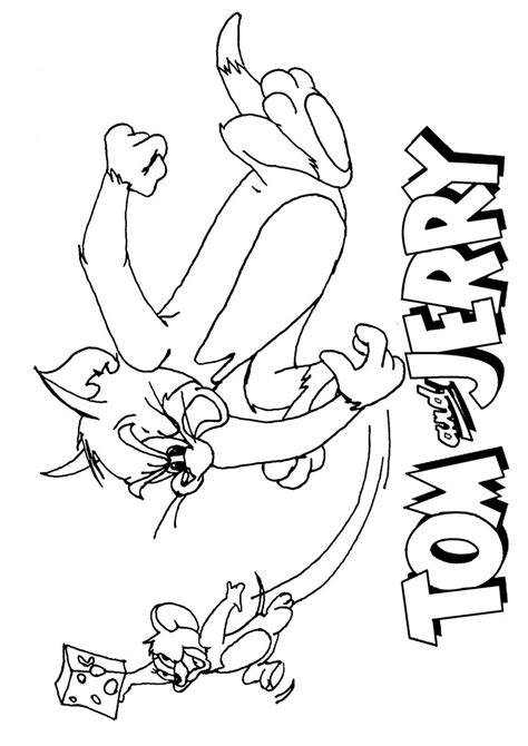 tom and jerry coloring page 5