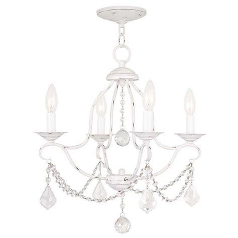 Antique White Mini Chandelier Filament Design Providence 4 Light Antique White Incandescent Ceiling Mini Chandelier Cli