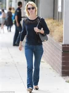 35 year old clothes january jones captures casual sixties chic in cat eye