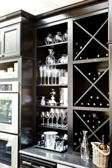 built in wine rack in kitchen cabinets ebony kitchen cabinets contemporary kitchen