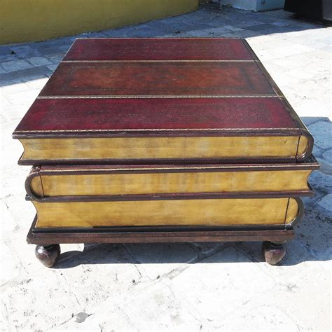 Books On Coffee Table Leather Stacked Books Coffee Table By Maitland Smith At 1stdibs