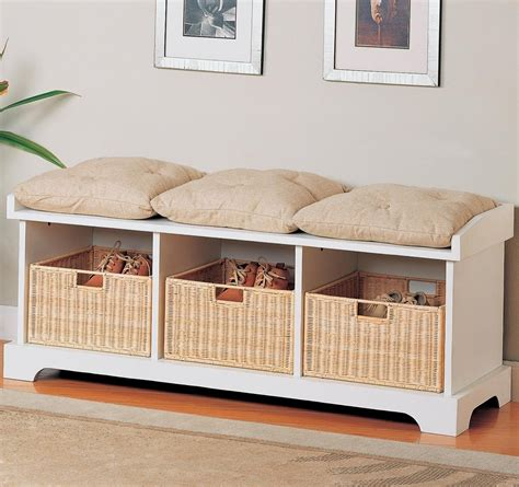 Storage Bench Wicker Baskets Bedroom Storage Bench Youtube