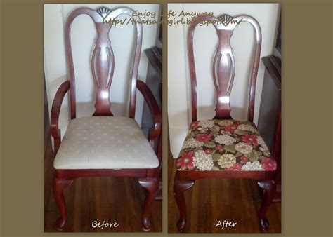 Diy Dining Room Chairs by Enjoy Life Anyway Diy Recover Your Dining Room Chairs For