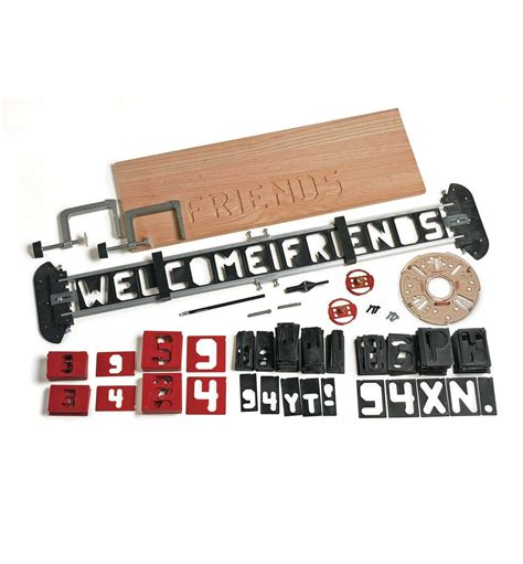 router letter template set lee valley tools