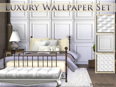 pralinesims luxury wallpaper set