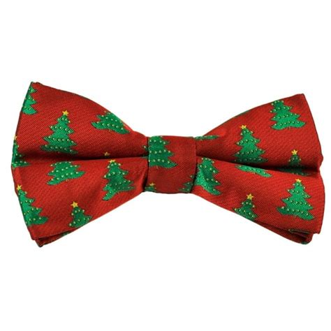 red green christmas tree novelty christmas bow tie
