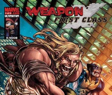 Marvel X Class 1 weapon x class 2008 1 comics marvel