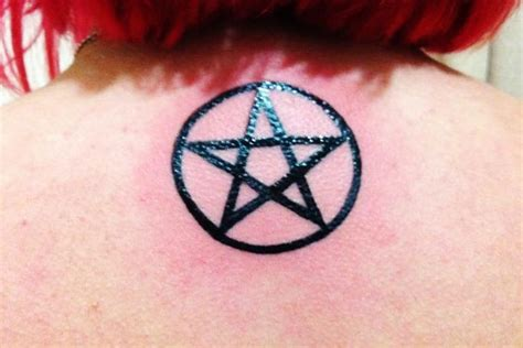 pentagon tattoo wiccan pentacle www imgkid the image kid