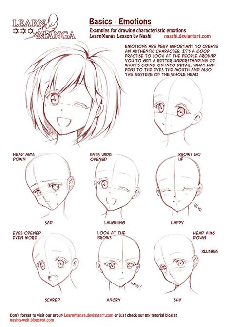 how to draw anime and learn emotions by naschi on deviantart how to