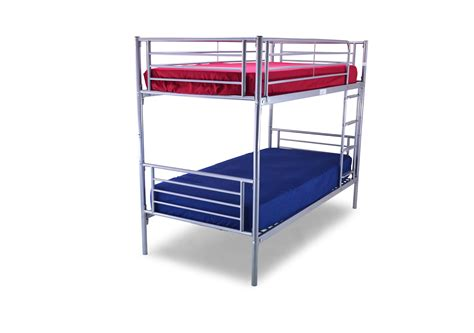 bunk bed with mattresses metal beds bertie bunk bed sweet dreamzzz cornwall