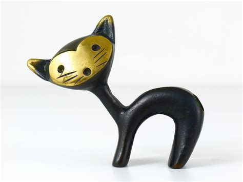 cat desk accessories walter bosse cat figurine pen holder hertha baller austria 1950s for sale at 1stdibs