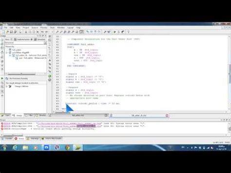 test bench for full adder full adder in vhdl youtube